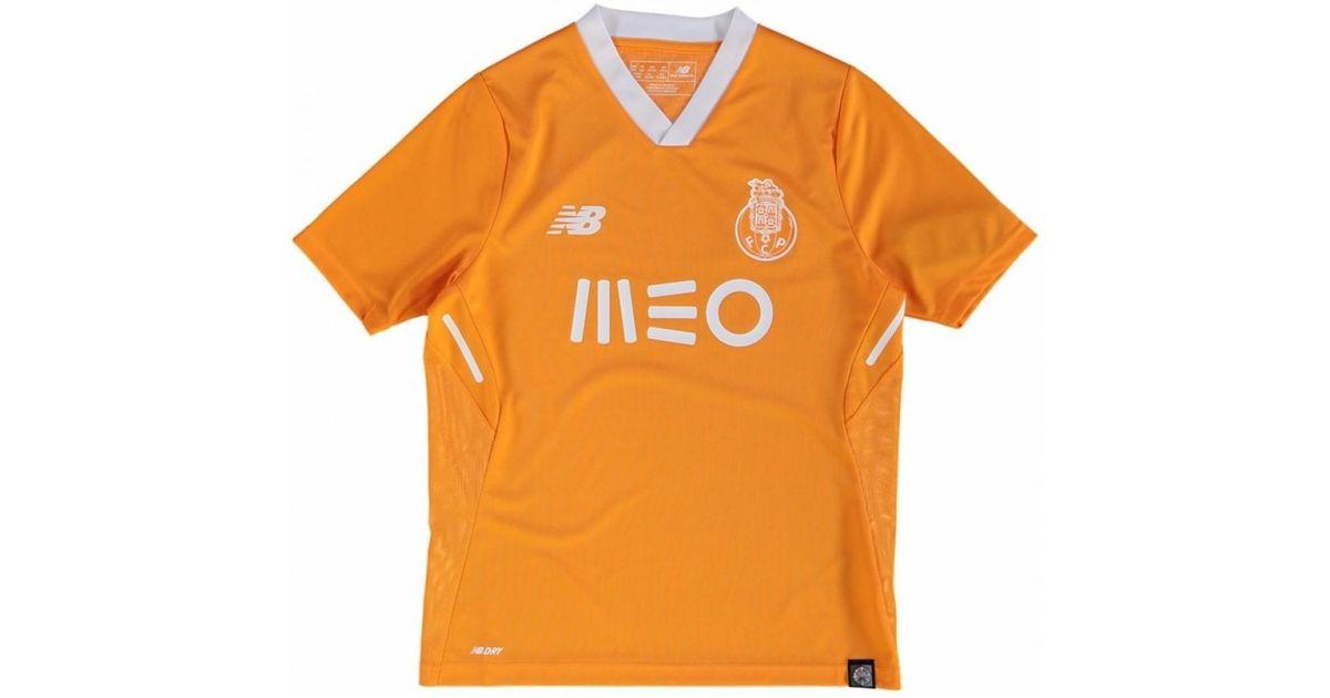 New Balance 2017-2018 Fc Porto Away Football Shirt (kids) Women s T Shirt  In Orange in Orange - Lyst fae962bf1