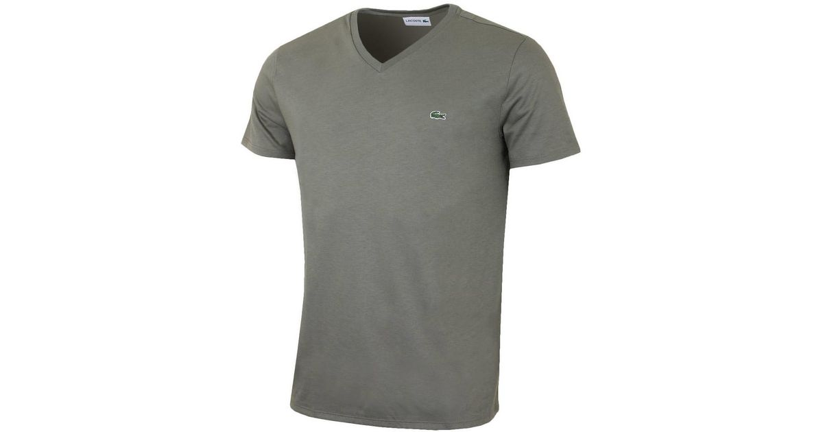 5059f25e Lacoste - Tee Ss - Army Green Men's T Shirt In Green in Green for Men - Lyst