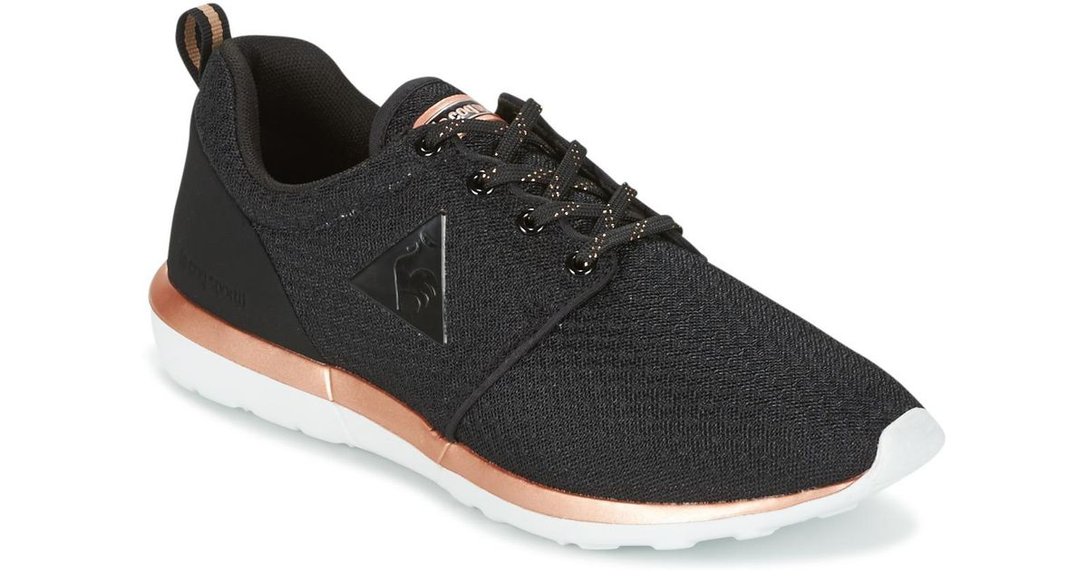 17986cc4c5b3 Le Coq Sportif Dynacomf W Feminine Mesh metallic Women s Shoes (trainers)  In Black in Black - Lyst