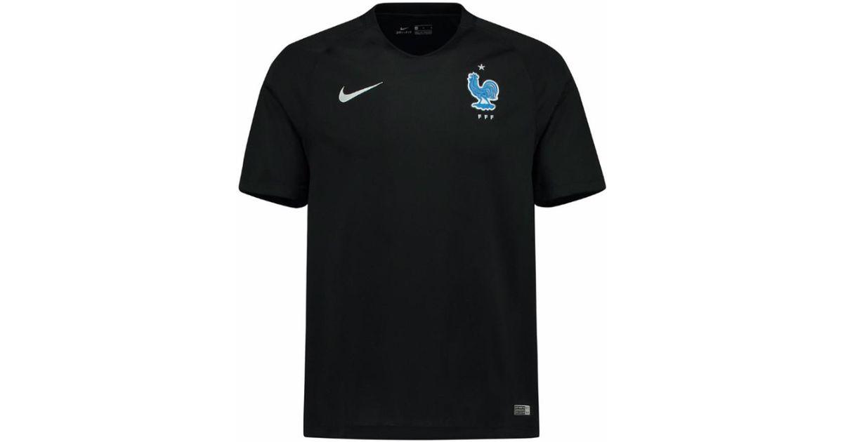 e3f0c1f91077 Nike 2017-2018 France Away Football Shirt (kids) Men s T Shirt In Black in  Black for Men - Lyst