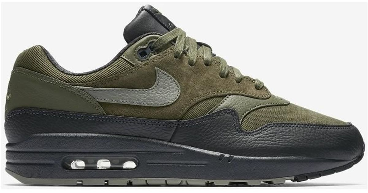 b3aa3bc310 Nike Air Max 1 Premium Dark Stucco 875844 201 Men's Shoes (trainers) In  Green in Green for Men - Lyst