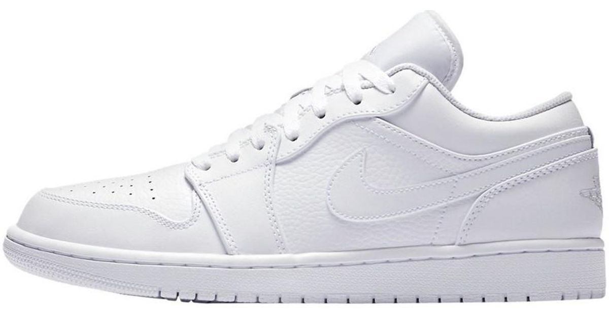 f16d71290678dd Nike Air Jordan 1 Low Men s Shoes (trainers) In White in White for Men -  Lyst