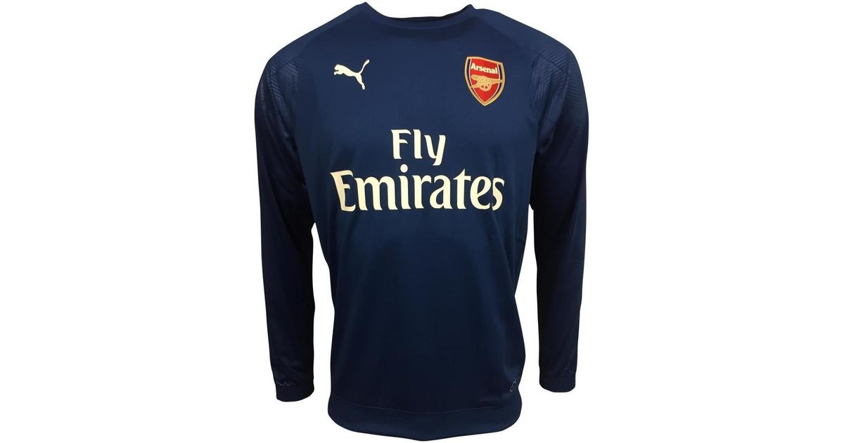 ae0689e37 Puma 2017-2018 Arsenal Training Sweat Top (limoges) Men s In Blue in Blue  for Men - Lyst
