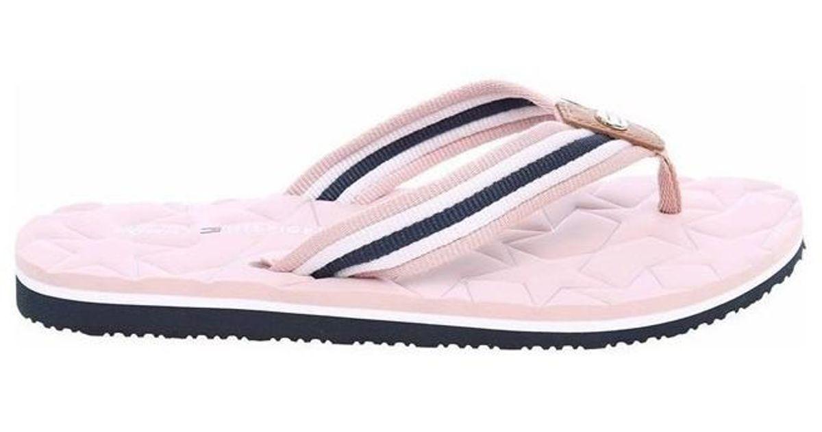 1f585492c Tommy Hilfiger Comfort Low Beach W8b Dusty Rose Women s Flip Flops   Sandals  (shoes) In Pink in Pink - Lyst