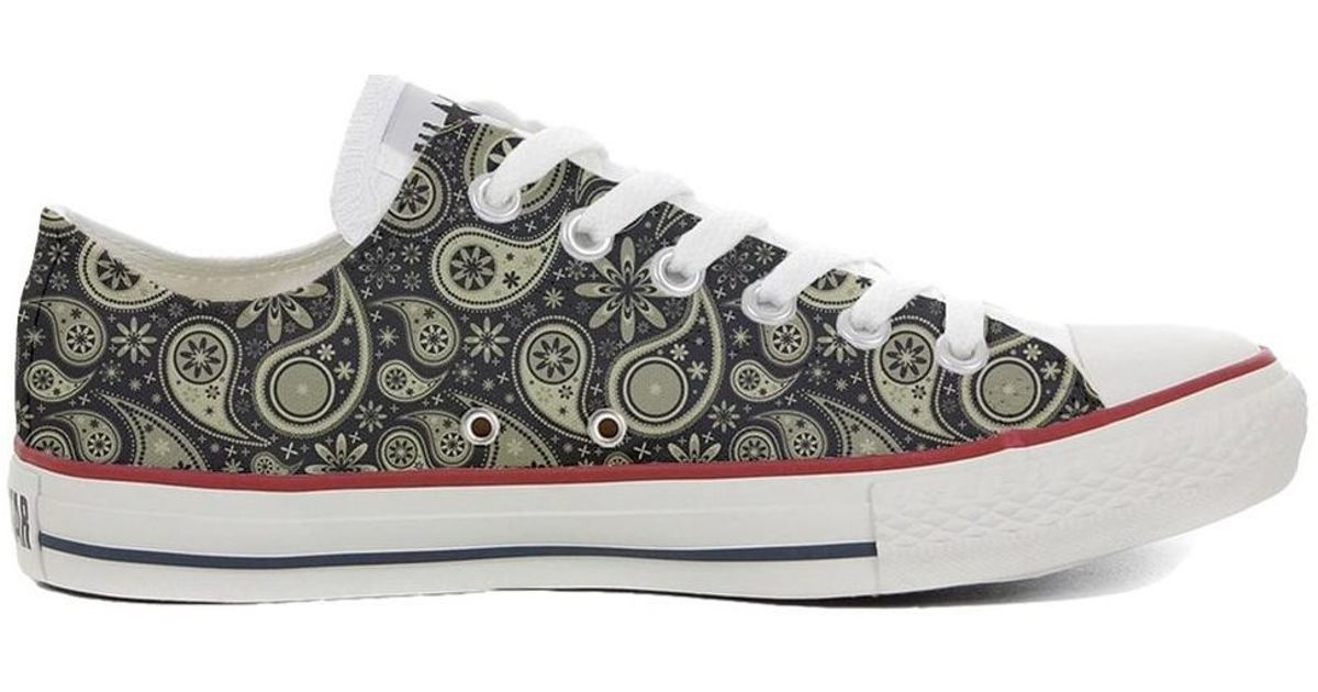 3476e888979d Converse Original Customized With Printed Italian Style Handmade Shoes In  Men s Shoes (trainers) In Grey in Gray for Men - Lyst
