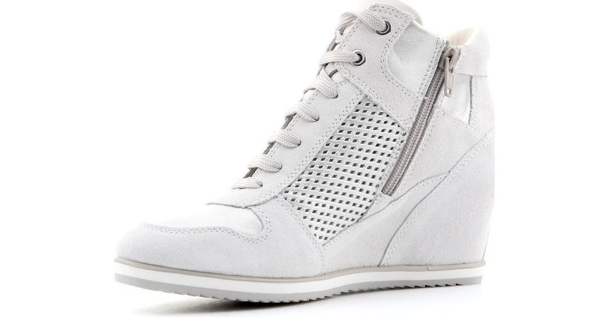TrainersIn Lyst Top Shoeshigh White Multicolour D Geox B Women's Illusion nwkX0O8P