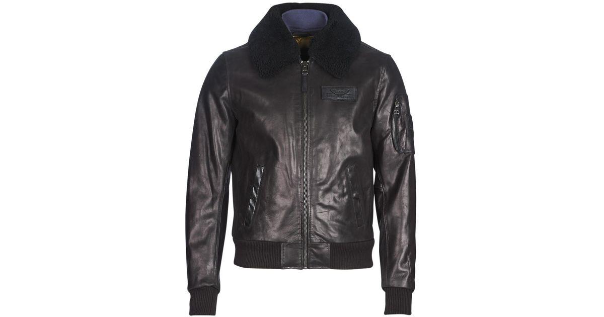 Redskins Commander Striking Leather Jacket in Black for Men - Lyst 007909877c1