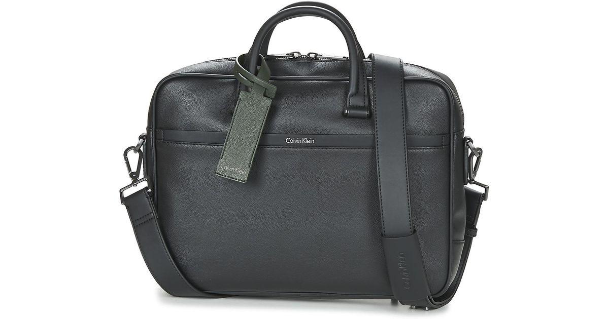 5e7e091f2da Calvin Klein Elias Laptop Bag S Men's Briefcase In Black in Black for Men -  Lyst