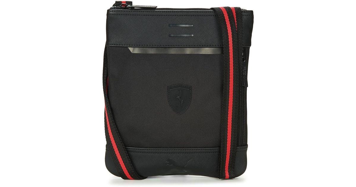 PUMA Ferrari Ls Flat Portable Men s Pouch In Black in Black for Men - Lyst 194fd5cb92275