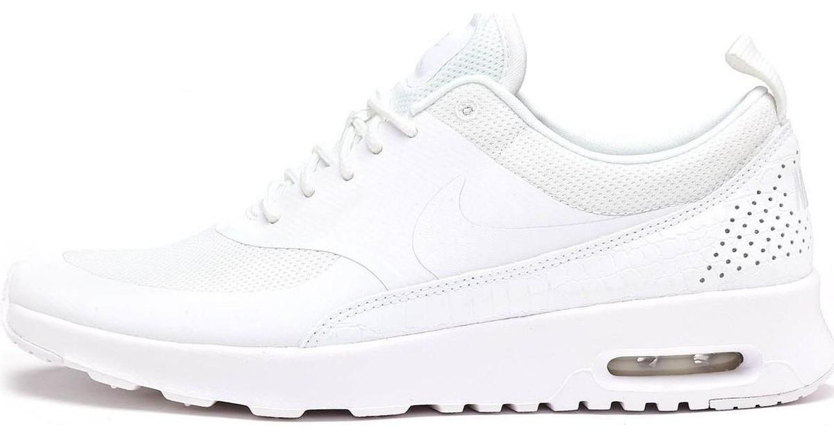 the latest dfe34 2c155 Nike Air Max Thea Women Trainers In Triple White 599409 104 Women s Shoes ( trainers) In White in White - Lyst