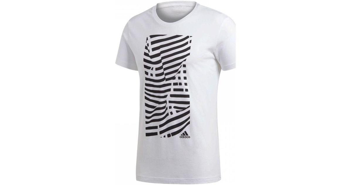 Adidas  juventus graphic t shirt men s t shirt in white