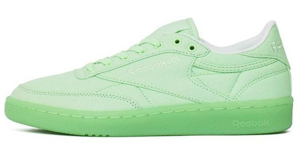 Reebok Club C 85 Canvas Mint Green Women s Shoes (trainers) In Green in  Green - Lyst 30f478b6b