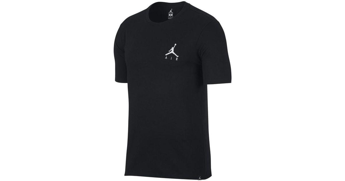 eb0e58a626 Nike Air Jordan Jumpman Embroidered Tee Men's T Shirt In Black in Black for  Men - Lyst