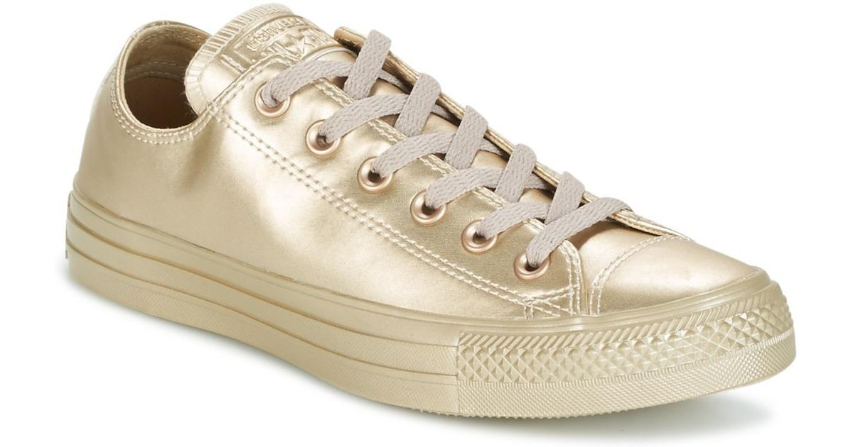 24afb0b77e4763 Converse Chuck Taylor All Star Liquid Metallic Ox Liquid Metallic Ox Gold  Women s Shoes (trainers) In Gold in Metallic - Lyst