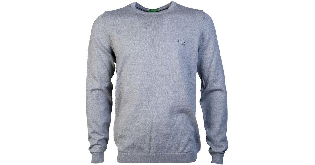 e01f5e955 Boss Knitwear Jumper Model Quot;c-caio 03 50374830 Quot; Men's Sweater In  Grey in Gray for Men - Lyst