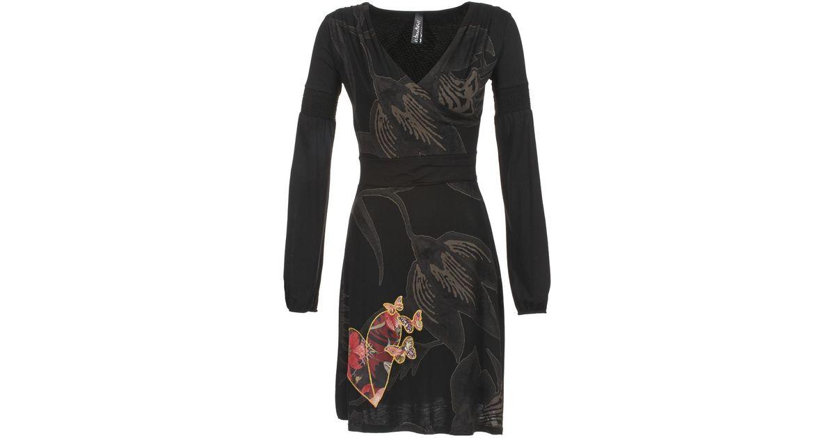 Dress Lyst Desigual In Alienime Black wPk8n0OX