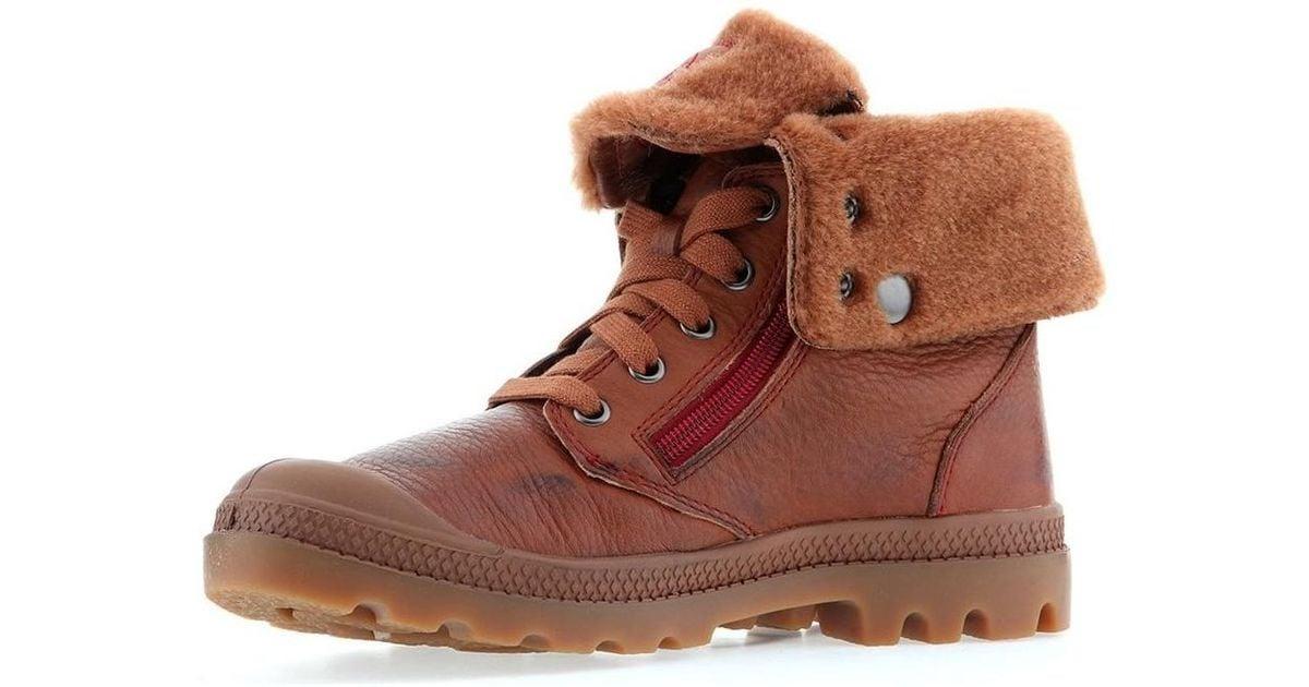 femmes Leather S Baggy Marron Lyst Marron en Chaussures en coloris Palladium O7qSTtxwH