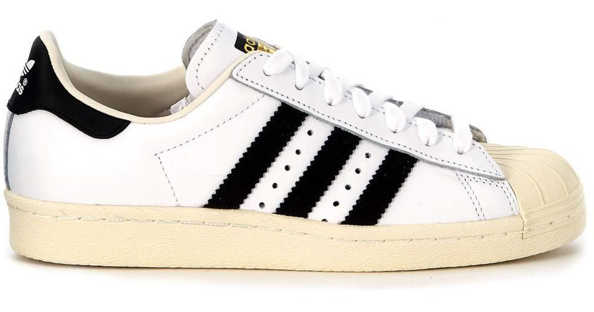 9368af84ef adidas Superstar Boost White Leather Sneaker Women's Shoes (trainers) In  White in White - Lyst
