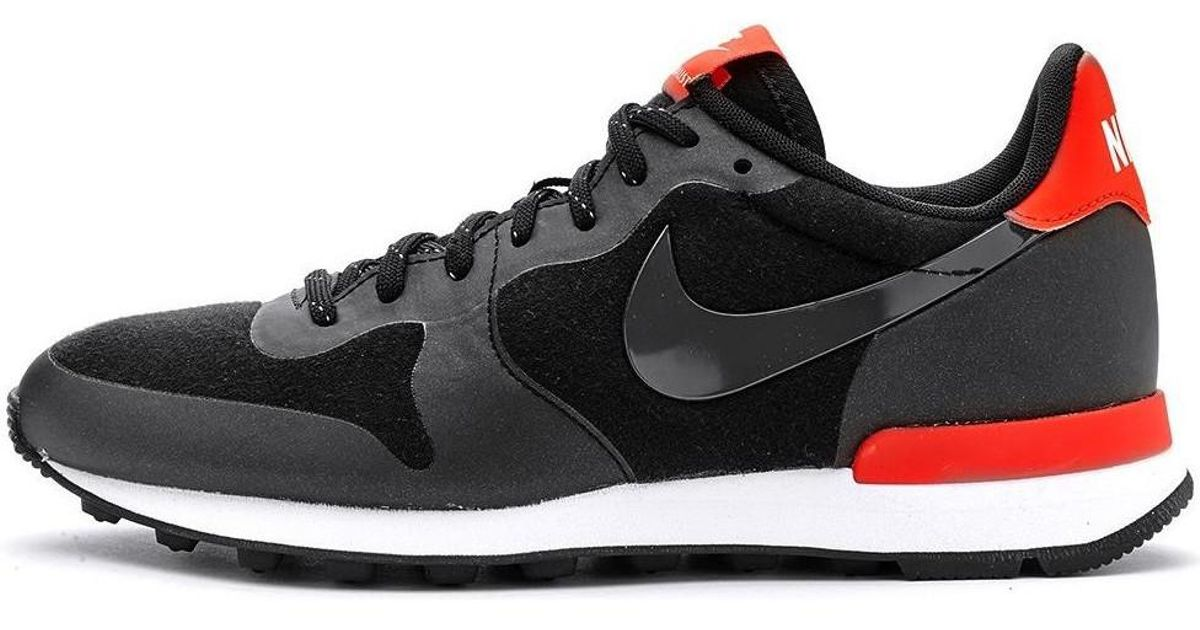 new style d4dc3 e9e1e Nike Internationalist Fleece Retro Women Trainers In Black Red 749 Women s  Shoes (trainers) In Black in Black - Lyst