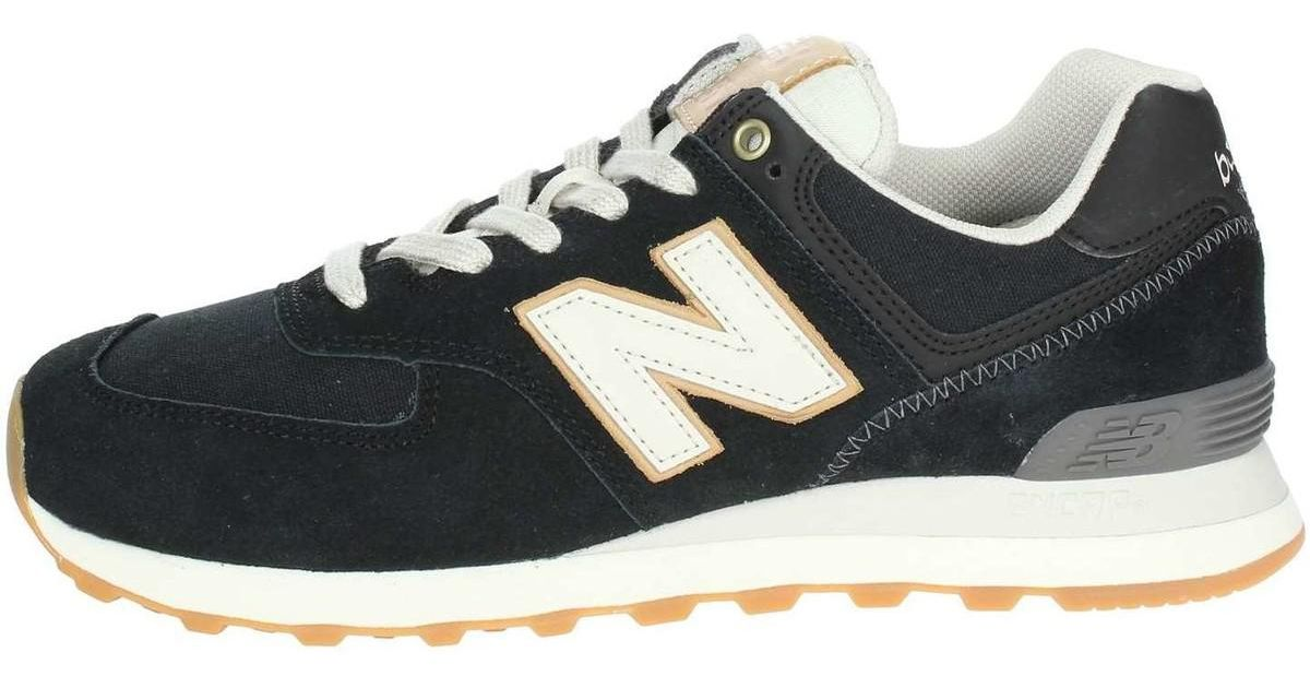 New Balance Ml574oua Low Sneakers Man Black Men's Shoes (trainers) In Black for Men Lyst