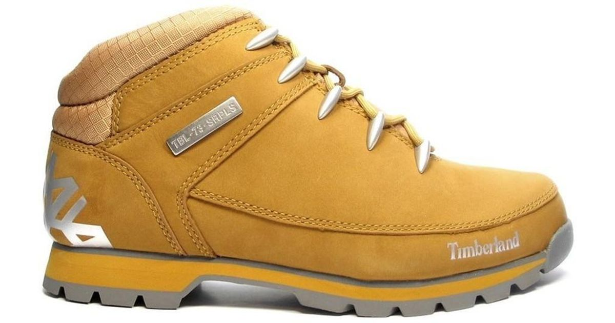 4ac74b77c429 Timberland Euro Sprint Hiker Men s Shoes (high-top Trainers) In Brown in  Brown for Men - Lyst