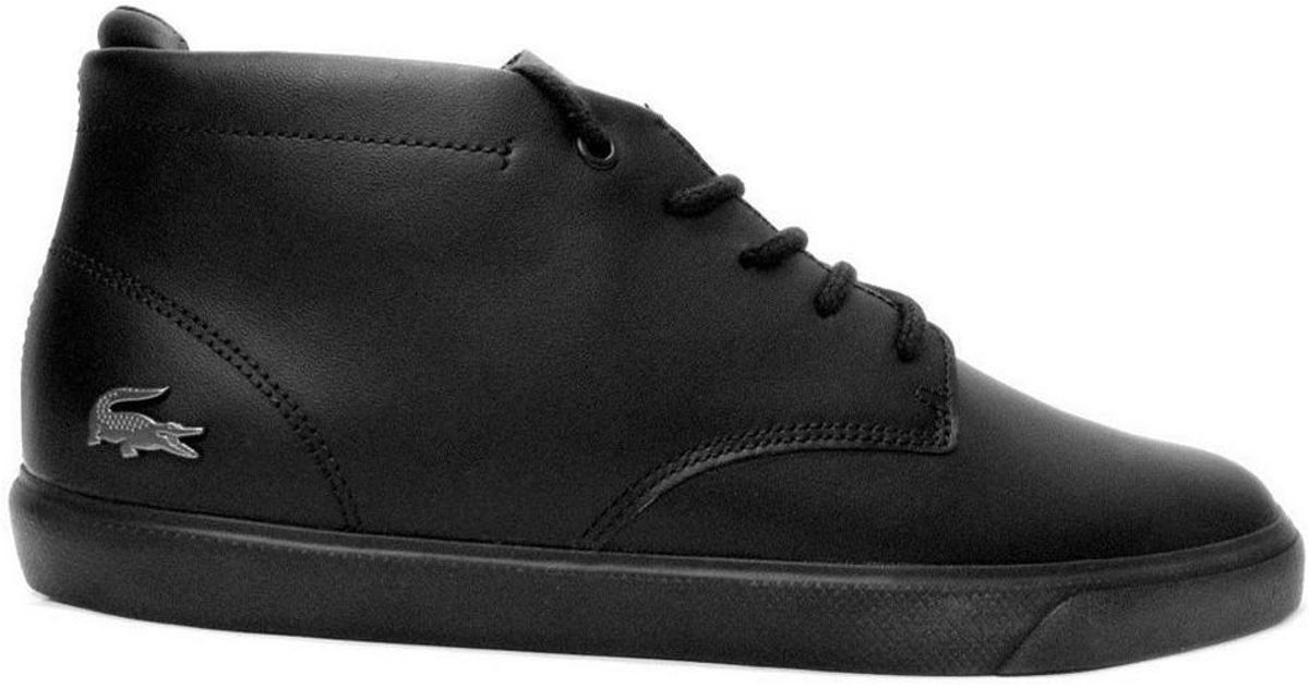 d08e4e5db8e8 Lacoste Espere Chukka 317 1 Cam Men s Shoes (high-top Trainers) In Black in  Black for Men - Lyst