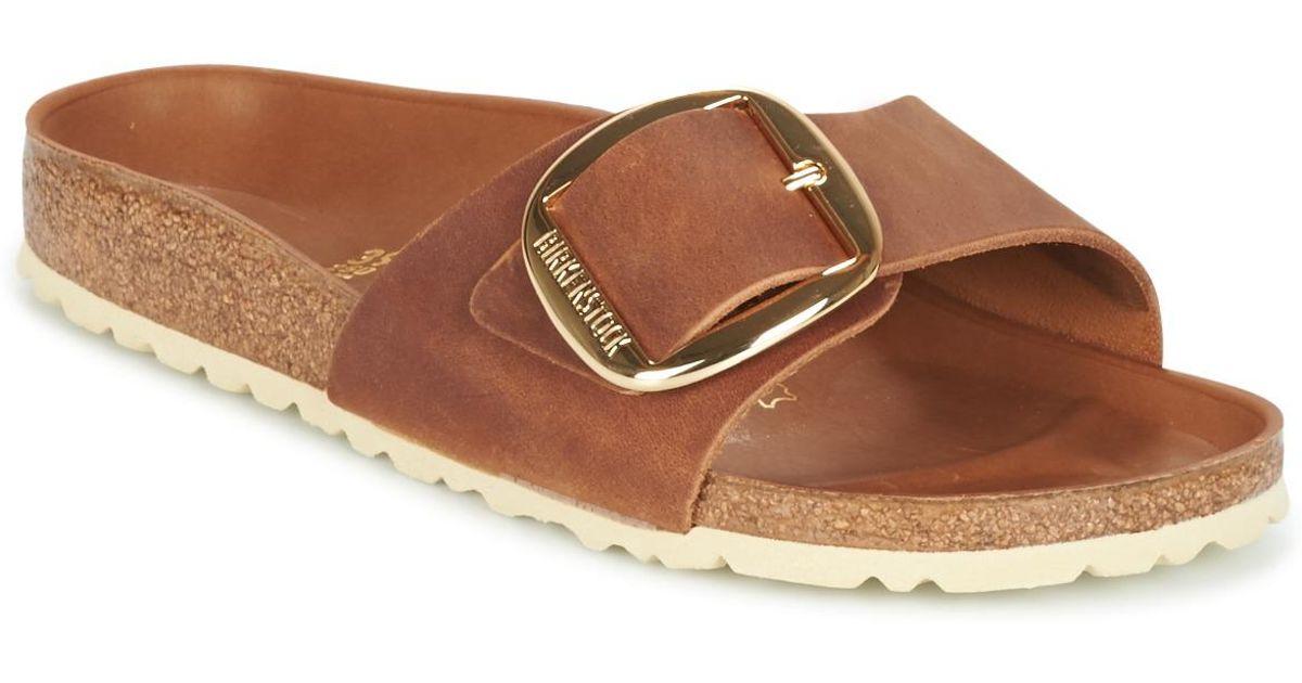 fcec38d278f Birkenstock Madrid Big Buckle Women s Mules   Casual Shoes In Brown in  Brown - Lyst