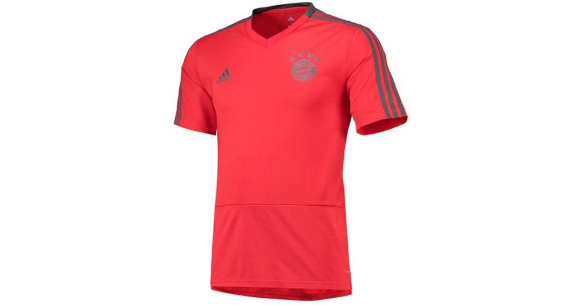 the latest 8cdab c4644 Adidas - 2018-2019 Bayern Munich Training Shirt - Kids Men's T Shirt In Red  for Men - Lyst