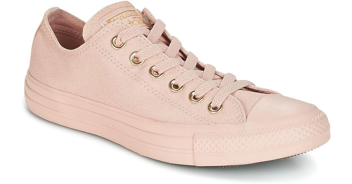 b55f53f1ec Converse Chuck Taylor All Star Ox Mono Glam Canvas Color Women s Shoes  (trainers) In Pink in Pink - Lyst