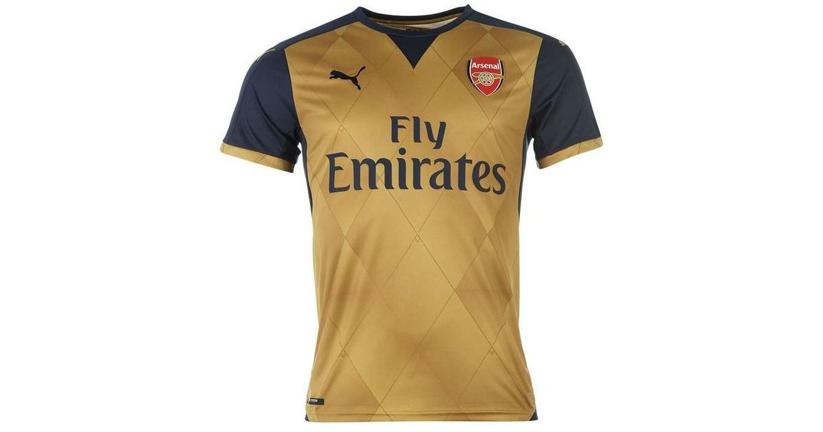 0242ab9c5 PUMA 2015-16 Arsenal Away Shirt (s. Cazorla 19) - Kids Men s T Shirt In  Blue in Blue for Men - Lyst
