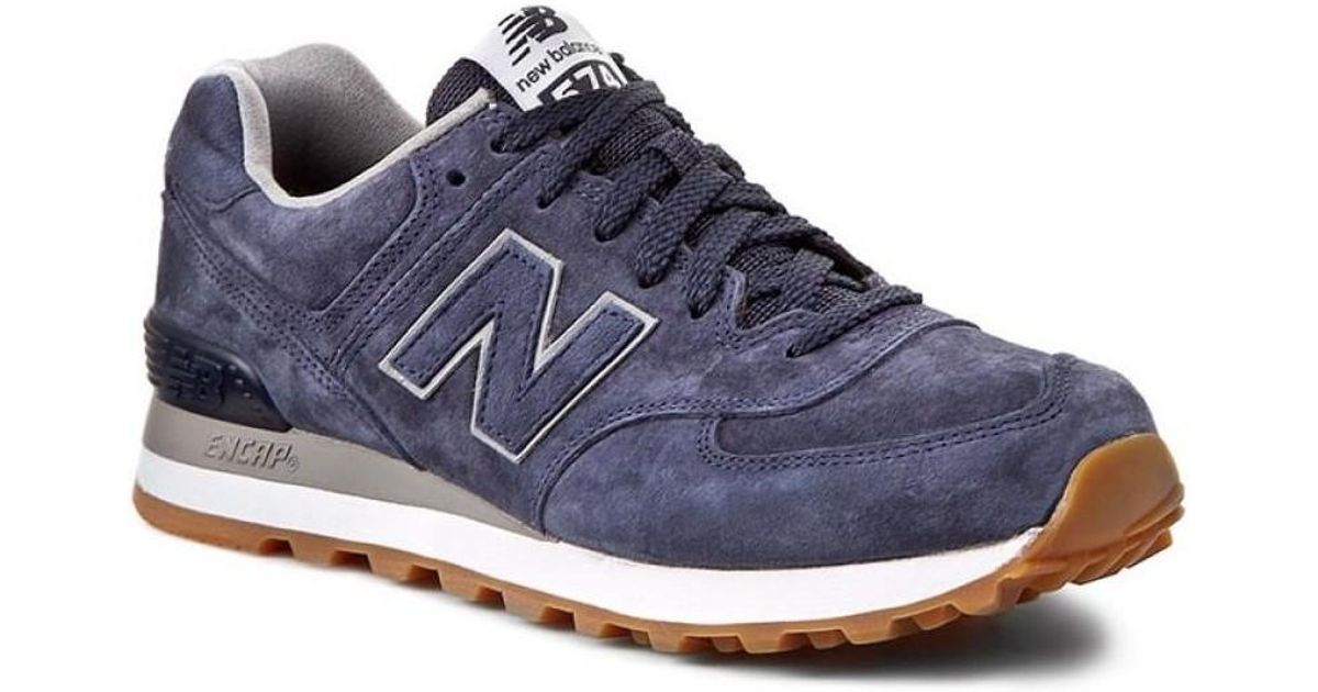 new concept 6b85f cc8c0 New Balance - Ml574fsn Men's Shoes (trainers) In Blue for Men - Lyst