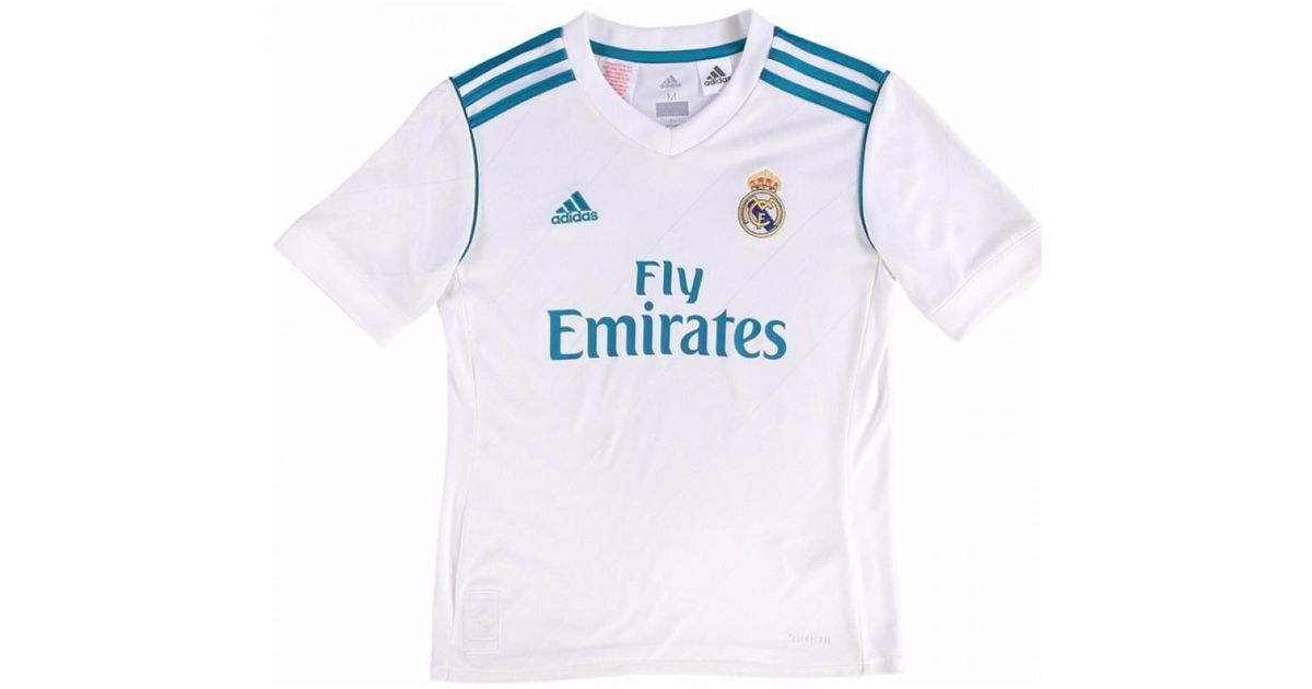 sports shoes 0530d ab3b8 Adidas - 2017-18 Real Madrid Home Shirt - Kids (ronaldo 7) Men's T Shirt In  White for Men - Lyst