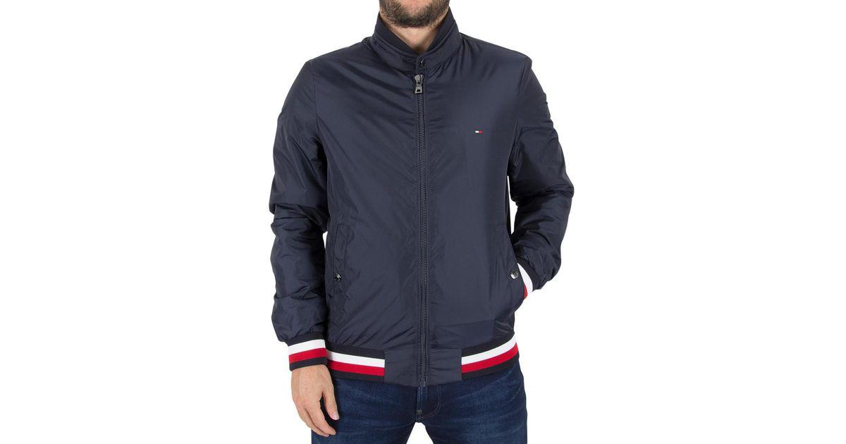 18563c2b Tommy Hilfiger Erol Bomber Jacket in Blue for Men - Lyst