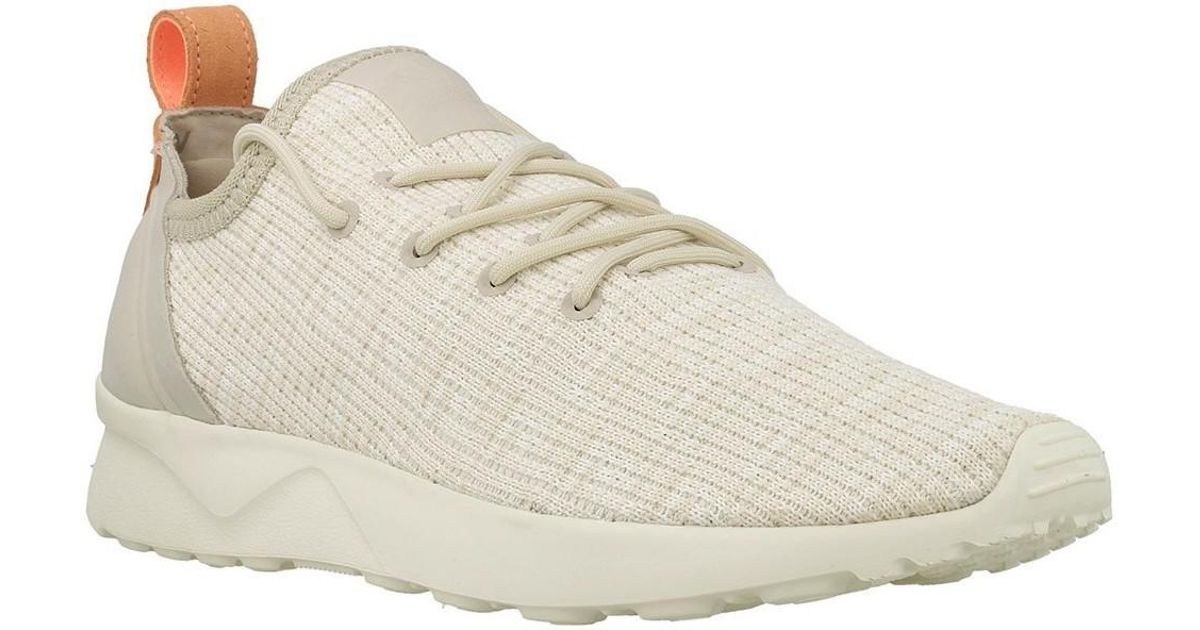 68b4c81a438b3 adidas Zx Flux Adv Virtue Sock W Women s Shoes (trainers) In Beige in  Natural - Lyst