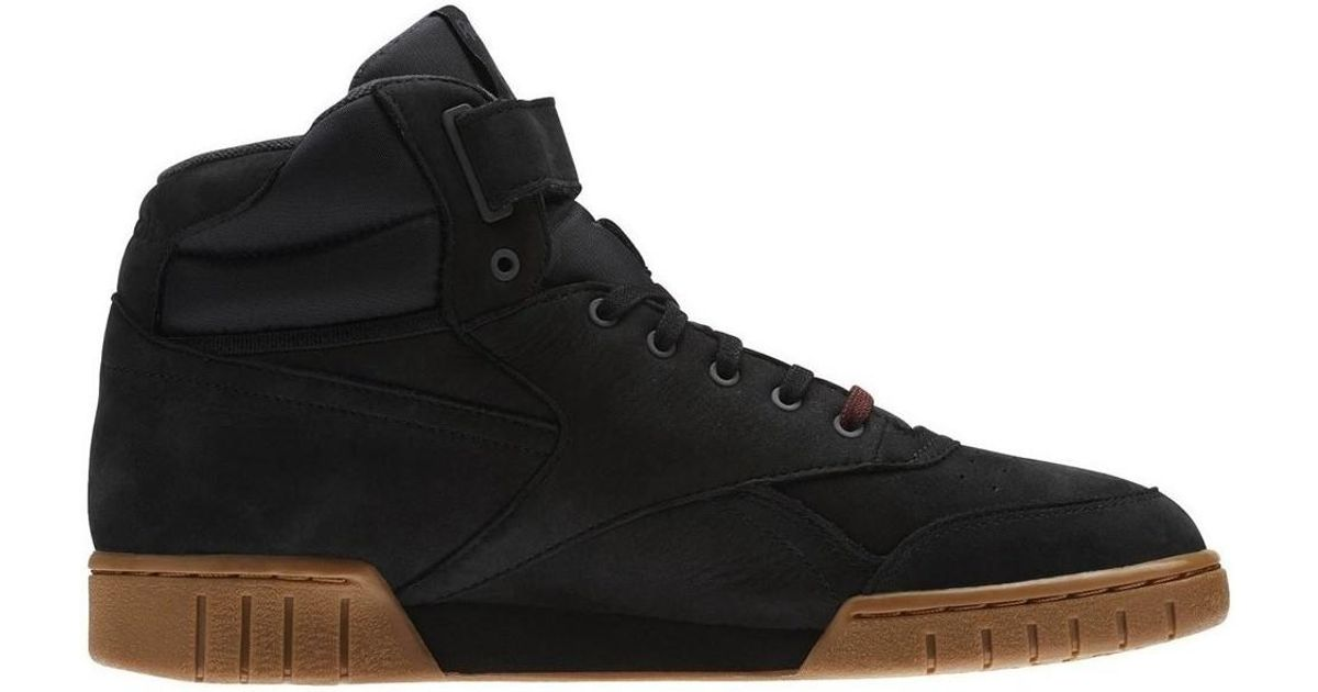 9395631737c Reebok Exofit Plus Hi Lg Black Men s Shoes (high-top Trainers) In Brown in  Brown for Men - Lyst