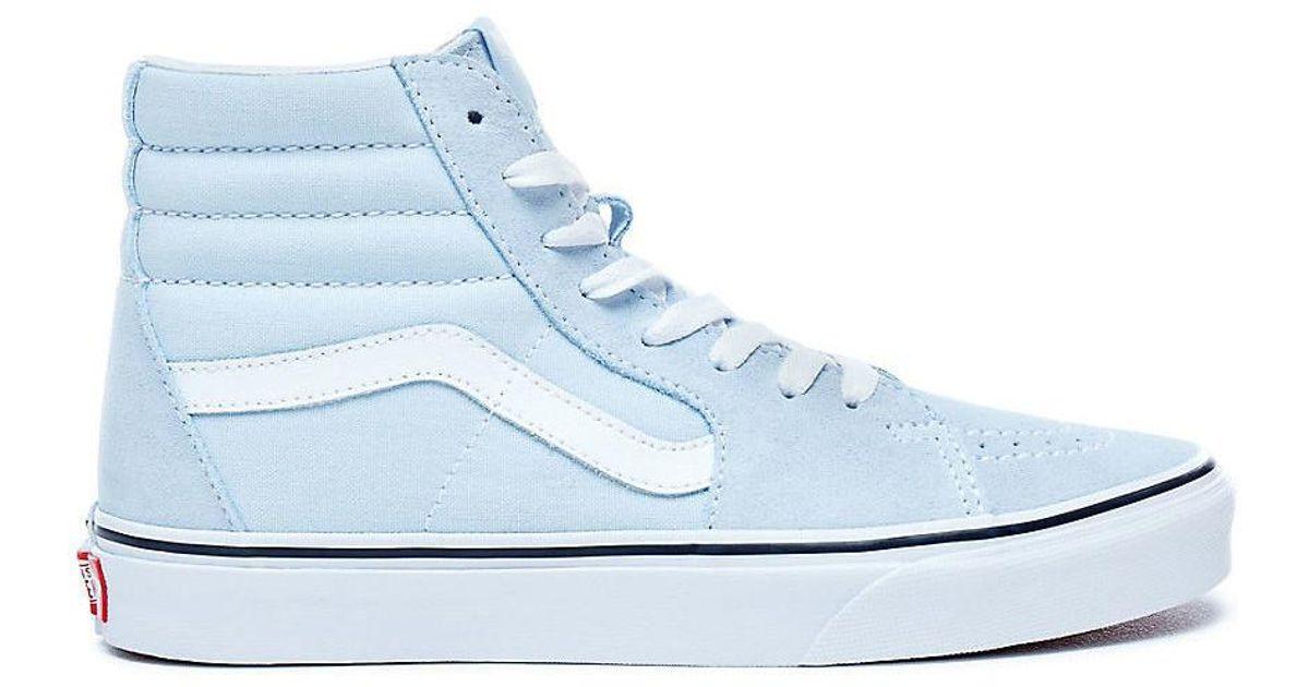 3aa497d7ff71c9 Vans Sk8-hi Baby Blue Women s High Boots In Blue in Blue - Lyst