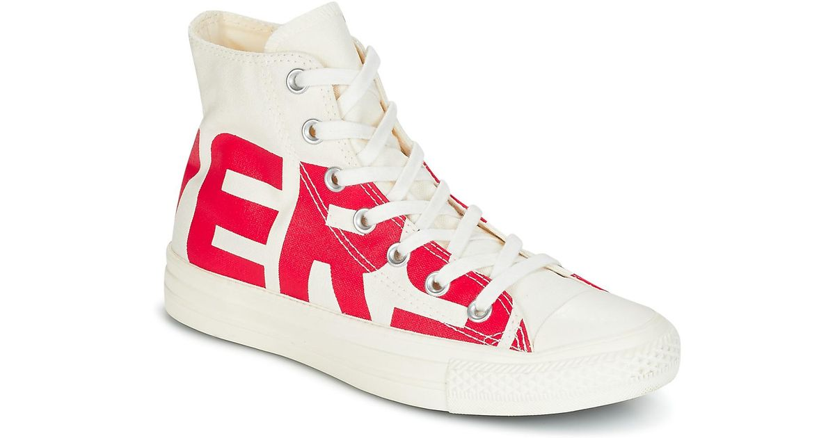 4eb4d0a86cb5 Converse Chuck Taylor All Star Hi Wordmark Women's Shoes (high-top  Trainers) In White in White - Lyst