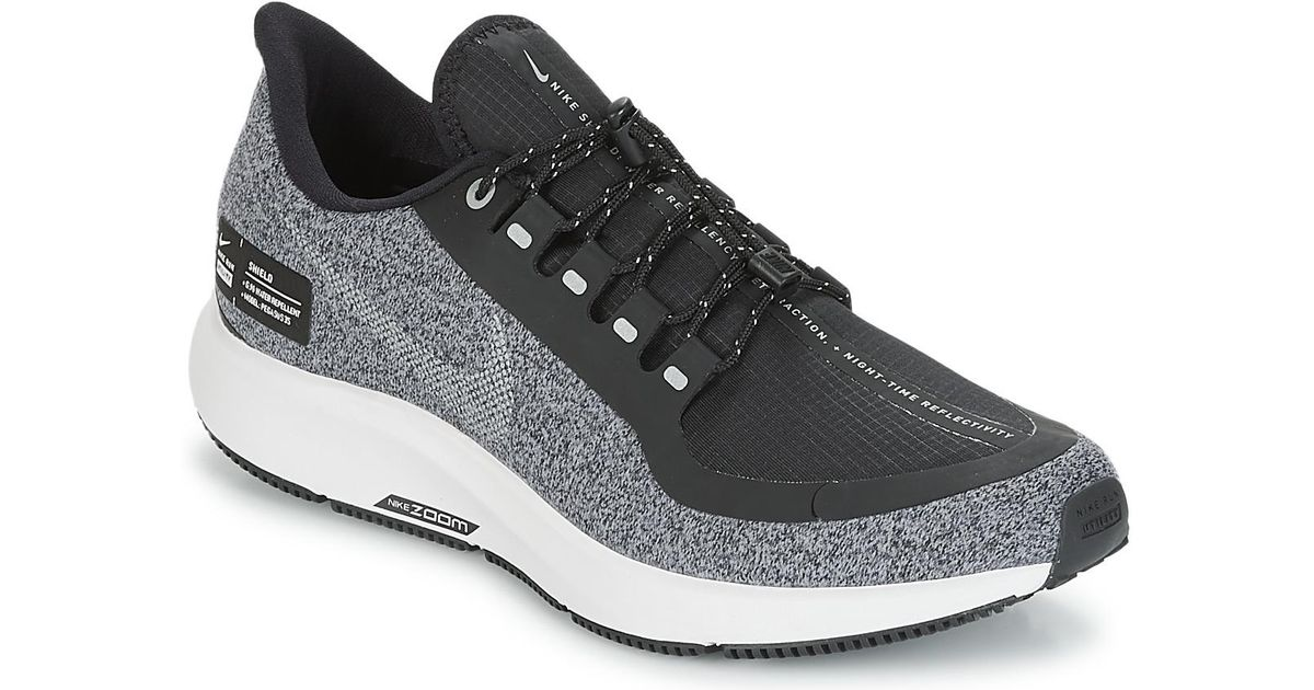 e74fb59cdaf9 Nike Air Zoom Pegasus 35 Shield Running Sneakers From Finish Line in Black  - Lyst