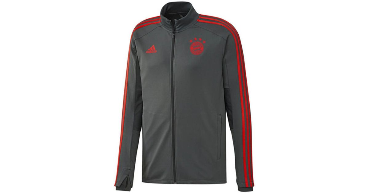 d1d5a9ca382 adidas 2018-2019 Bayern Munich Training Track Jacket (utility Ivy) Women's  Tracksuit Jacket In Grey in Gray - Lyst