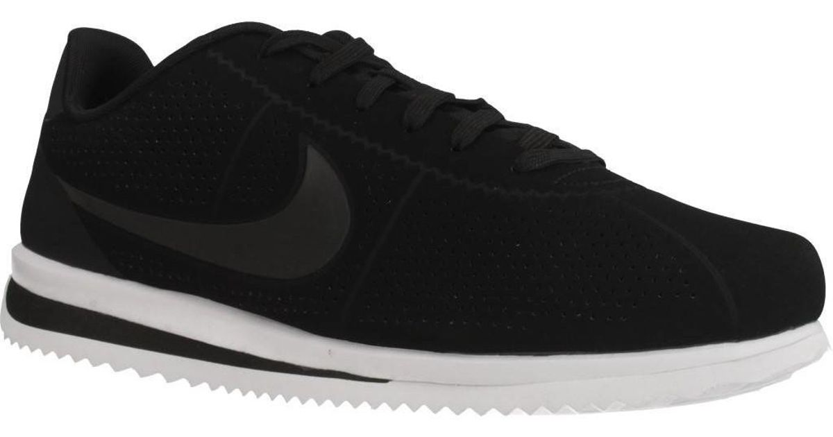 new style 5d110 c80b6 Nike Cortez Ultra Moire Mens Shoes (trainers) In Black in Black for Men -  Lyst