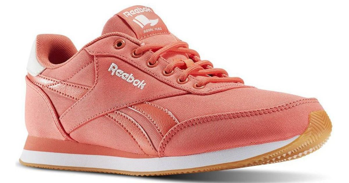 73d15b05b274 Reebok Royal Cl Jog Fire Coralchalkwht Women s Shoes (trainers) In Pink in  Pink - Lyst