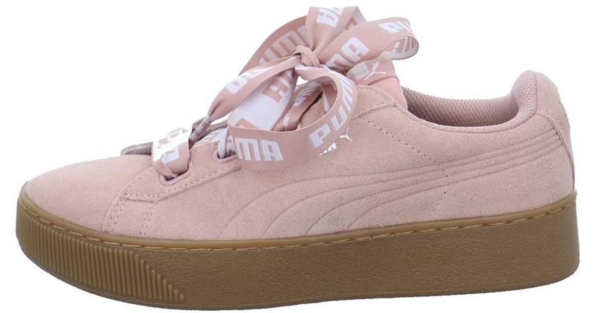 db8759c8612 PUMA Vikky Platform Ribbon Women s Shoes (trainers) In Pink in Pink - Lyst