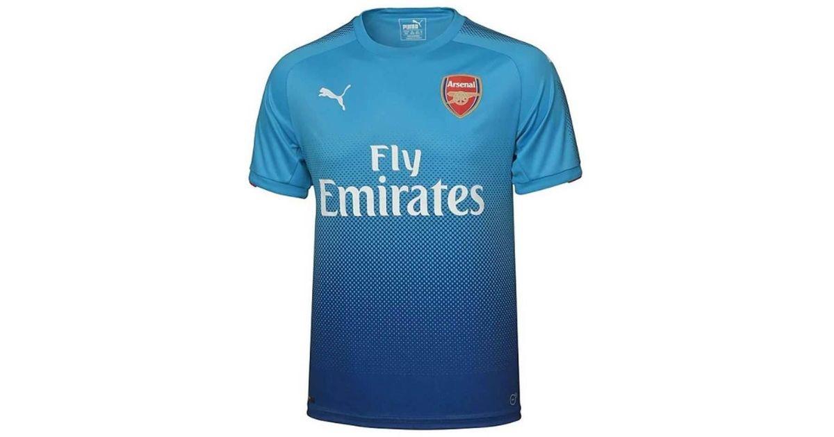 PUMA 2017-2018 Arsenal Away Shirt (wilshere 10) Men s T Shirt In Black in  Black for Men - Lyst 1e0fde3b3