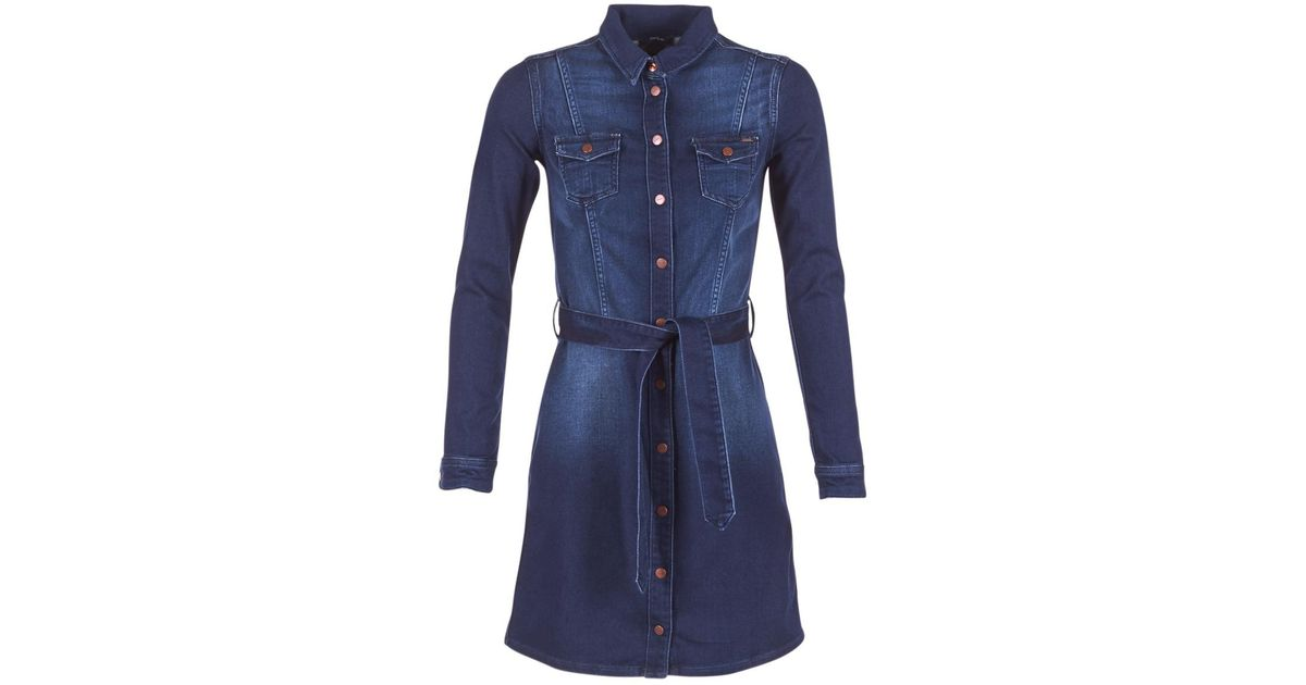54511fafdbd Pepe Jeans Cindy Nicole Women's Dress In Blue in Blue - Lyst