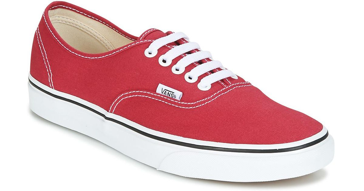 5fc197f7290f Vans Authentic Men s Shoes (trainers) In Red in Red for Men - Lyst
