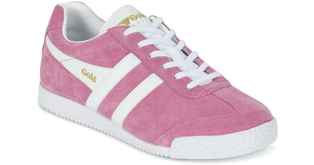 e5b051a8eea2 Gola Harrier Women s Shoes (trainers) In Pink in Pink - Lyst