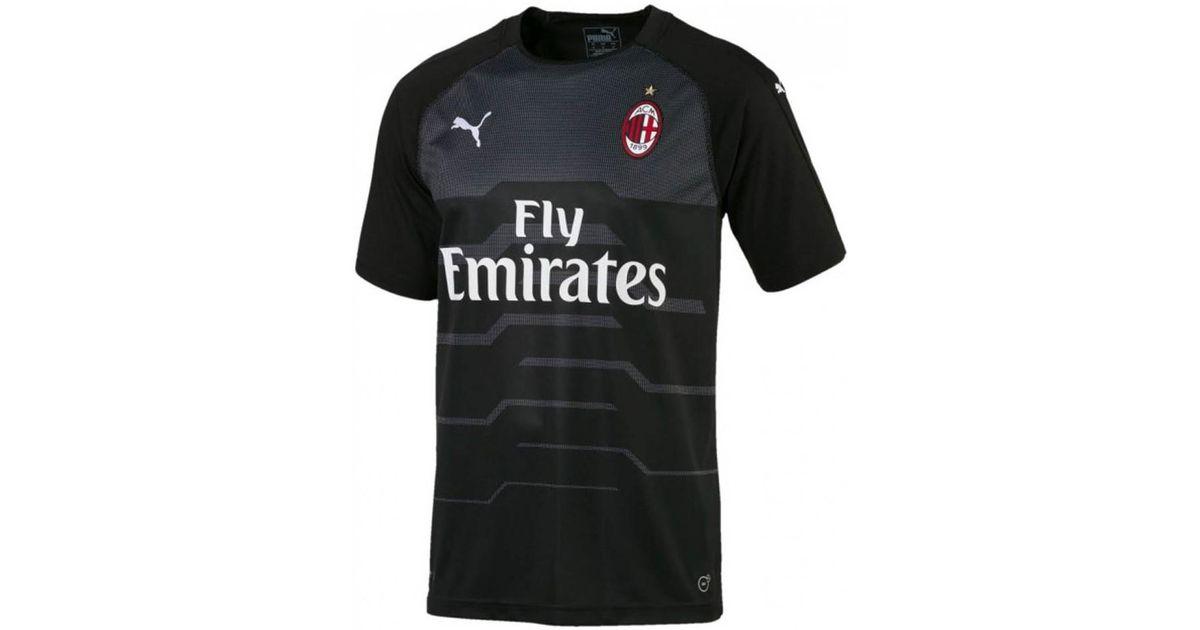 5282de48ebe423 PUMA 2018-2019 Ac Milan Away Ss Goalkeeper Shirt Men's T Shirt In Black in  Black for Men - Lyst