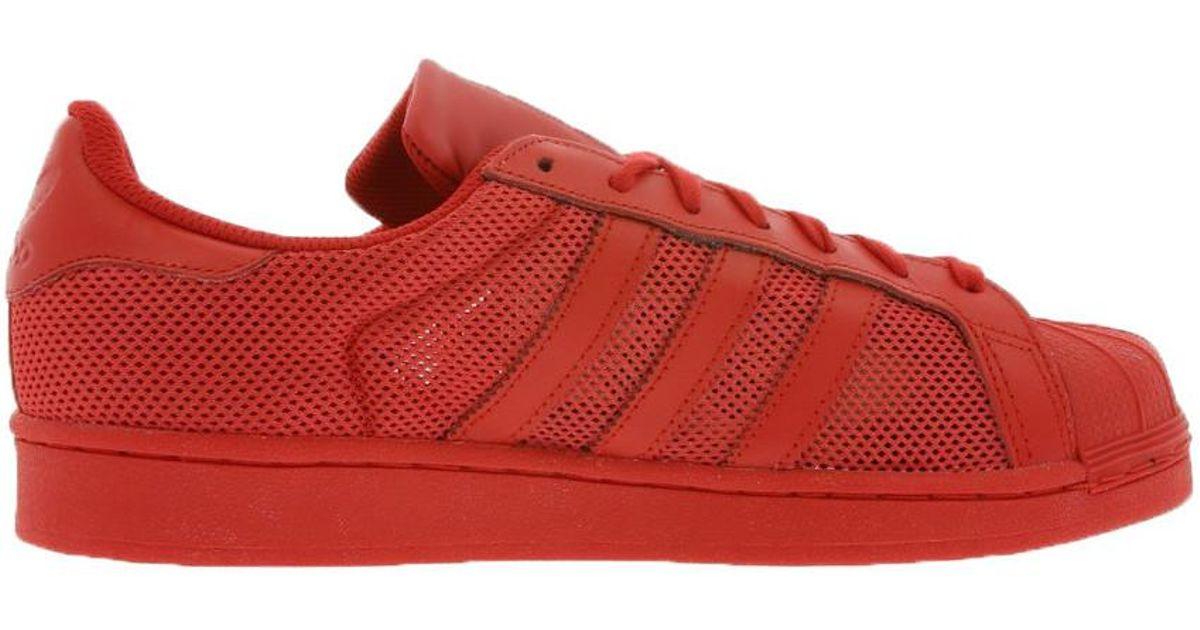 obuwie niska cena różnie Adidas - - Superstar - B42621 Women's Shoes (trainers) In Red - Lyst