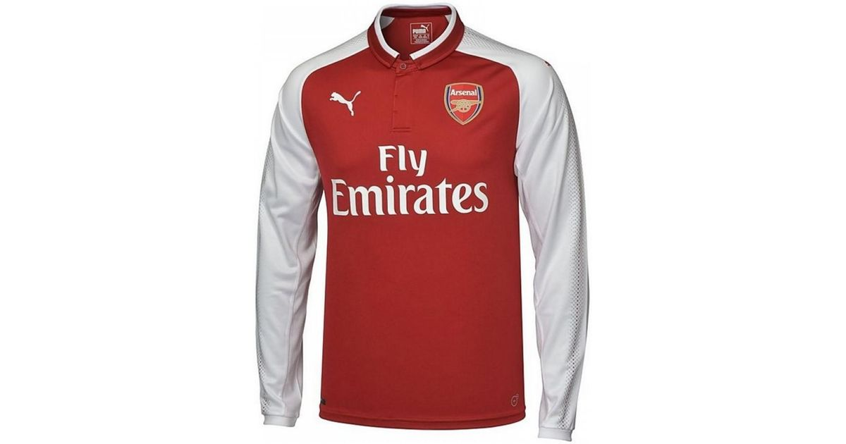 b748ace86 Puma 2017-18 Arsenal Home Long Sleeve Shirt (ozil 11) Women s Polo Shirt In  Red in Red for Men - Lyst
