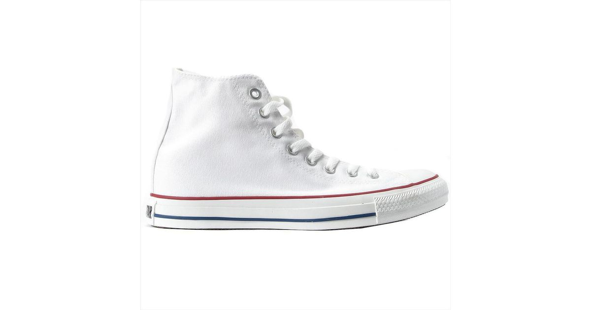Converse Optical Top All Shoeshigh TrainersIn Hi Lyst Women's White Star cFJ1lK